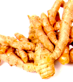 Turmeric Roots: Curcumin is the active ingredient in the traditional herbal remedy and dietary spice turmeric
