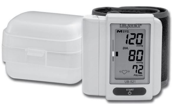 UB-521 Digital Wrist Blood Pressure Monitor from LifeSource