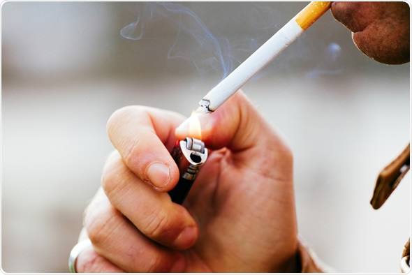 Does cigarette smoking damage the skin?