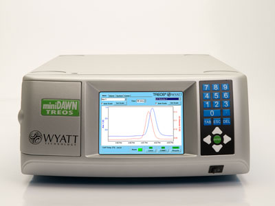 miniDAWN™ TREOS® Multi-Angle Light Scattering Detector for HPLC/GPC from Wyatt Technology