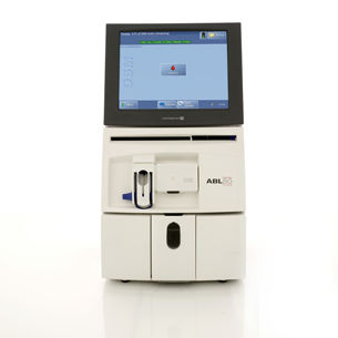Radiometer's ABL80 FLEX CO-OX OSM Blood Gas Analyzer for Cath Labs, EDs and NICU