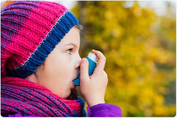 Asthma Inhaler and Child