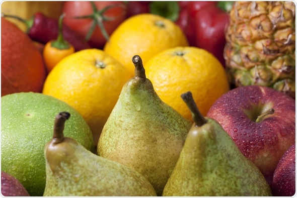 Mixed fruits - pears apples