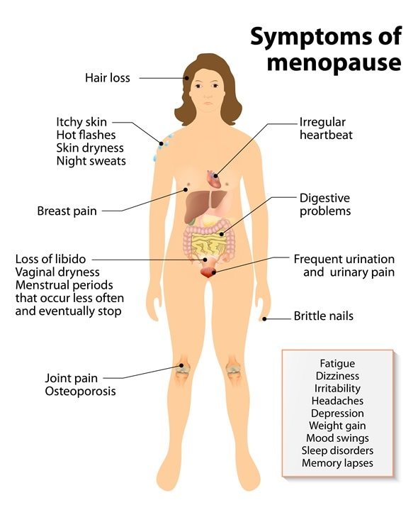 Menopause. Sign and Symptoms - Image Copyright: Designua / Shutterstock