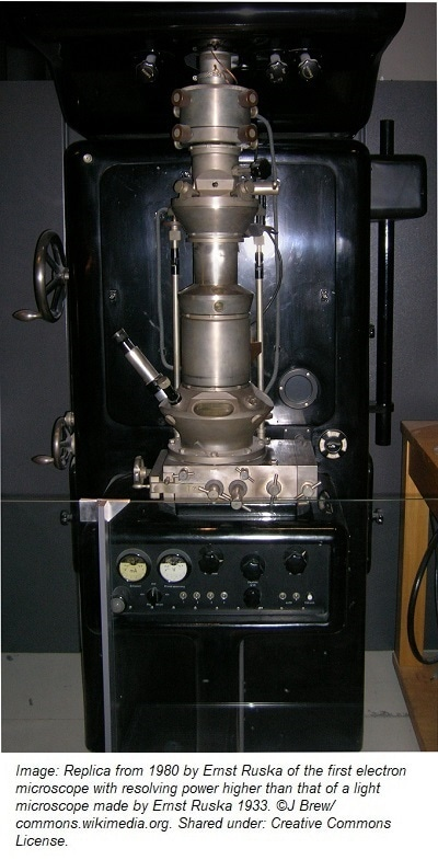 in what way are electron microscopes different from light microscopes