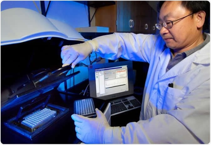 CDC microbiologist Dr Cheng-Yen Chen, was shown preparing a pyrosequencing experiment in order to differentiate between Chlamydia trachomatis L-serovars responsible for lymphogranuloma venereum (LGV), and other chlamydial serovars. Organisms of the same genus are further subdivided into serovars, or serotypes, which group these organisms based upon their constituent intracellular antigenic profiles. Image Credit:  CDC/ Hsi Liu, Ph.D., MBA, James Gathany