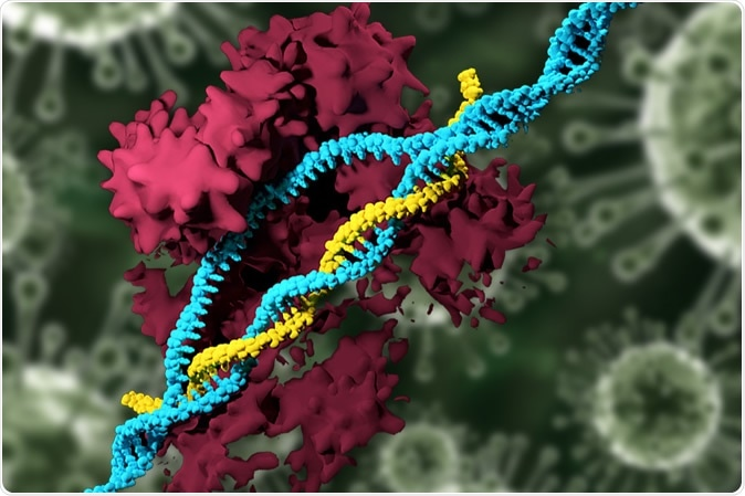 In a new study, MIT researchers have developed nanoparticles that can deliver the CRISPR genome-editing system and specifically modify genes, eliminating the need to use viruses for delivery. Image Credit: MIT