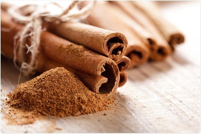 Cinnamon sticks. Image Credit: Oksana Shufrych / Shutterstock