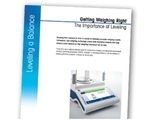 METTLER TOLEDO's new paper highlights importance of leveling to meet weighing accuracy