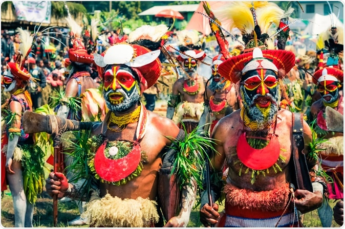 Traditional Enga cultural show in Wabag, Papua New Guinea. Image Credit: Michal Knitl / Shutterstock
