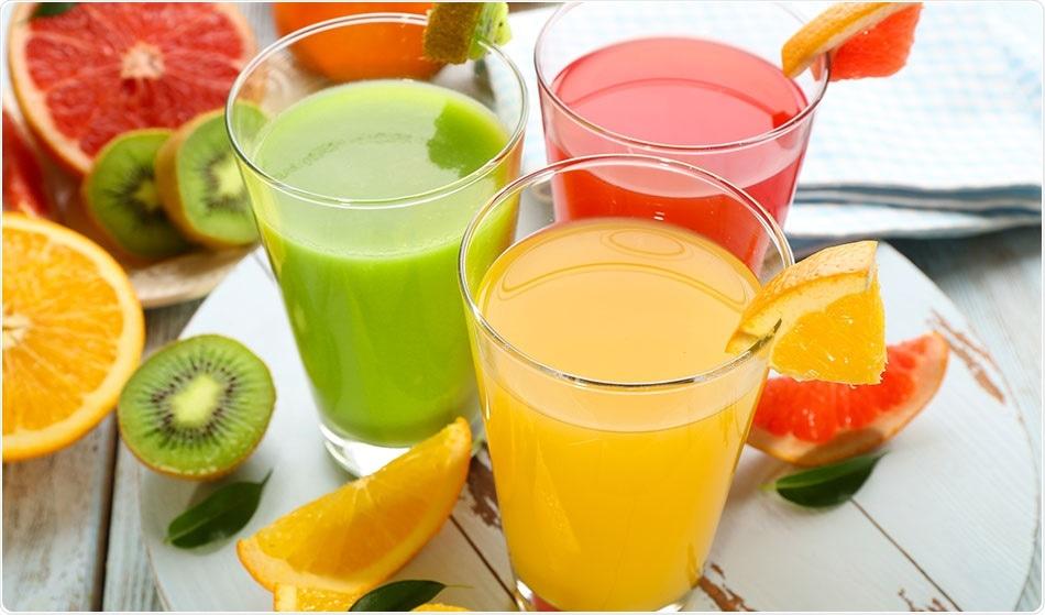 One hundred percent fruit juic...