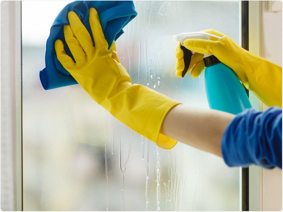 This is a person cleaning.