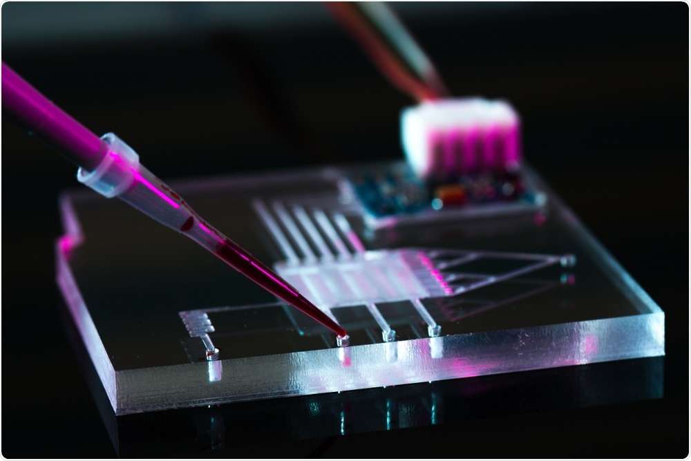 Microfluidics system - by science photo