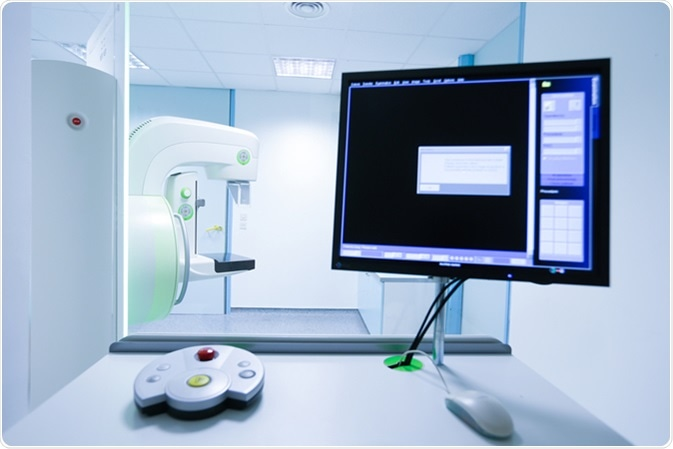 Mammography breast screening device in hospital. Image Credit: zlikovec / Shutterstock