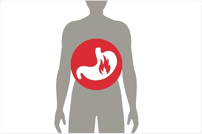 stomach pain and gastritis - illustration - By Ramona Kaulitzki