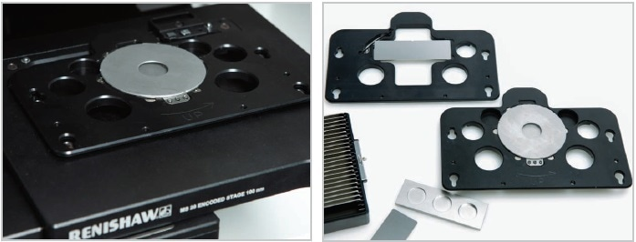 A range of specially designed sample holders