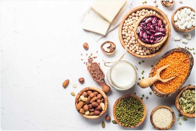 Photo showing plant-based sources of protein - taken by nadianb