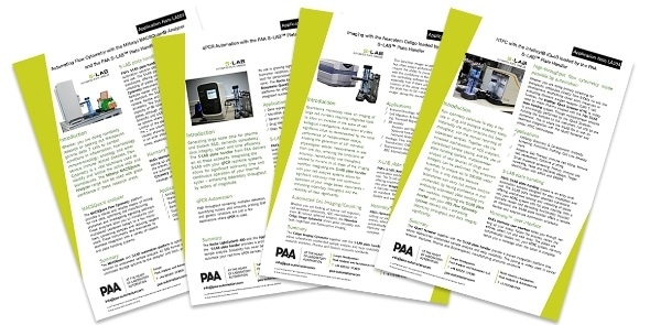 PAA releases new application notes demonstrating the versatility of S-LAB automated plate handler