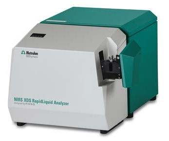 A NIRS XDS RapidLiquid Analyzer was used to collect the spectral data of samples in transmission mode covering the full Vis-NIR wavelength range of 400–2500 nm.