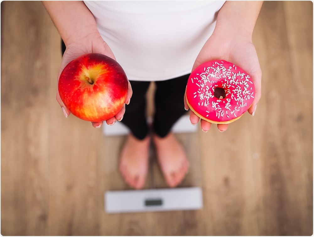 Obesity choices - apple versus doughnut
