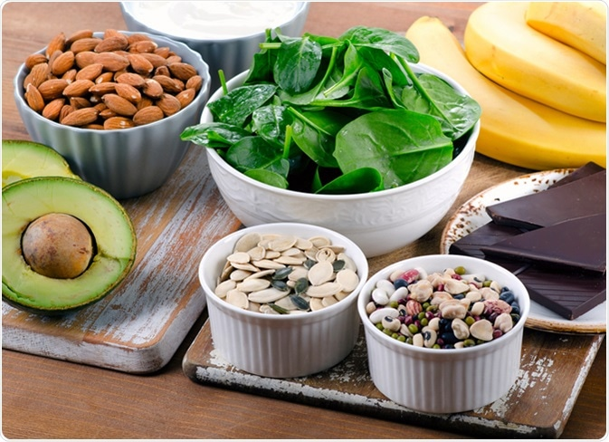 Some foods high in Magnesium. Image Credit: bitt24 / Shutterstock