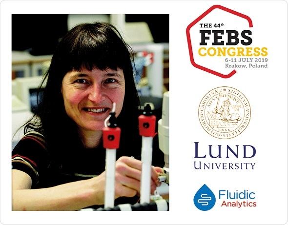 Professor Sara Linse highlights Fluidity One-W as key technique for protein interaction analysis at FEBS 2019