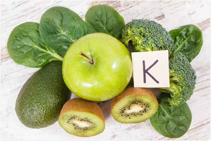 Fresh fruits and vegetables containing vitamin K. Image Credit: Ratmaner / Shutterstock