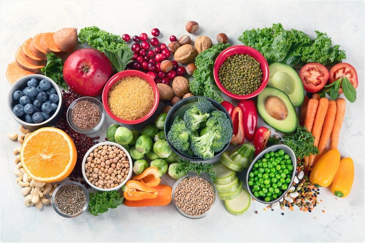 Healthy food backgroundSelection of balanced food for healthy nutrition Assortment of fish salmon, lentils, beans, vegetables and fruits for health  Stock Photo - Alamy