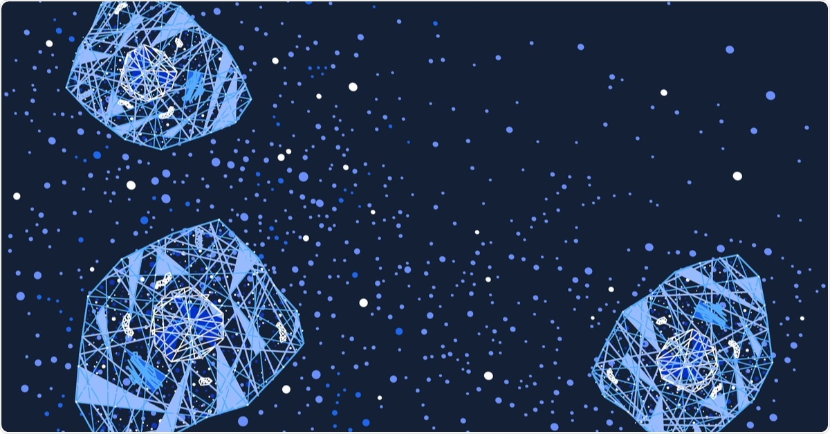 Cytokine storm cell signaling vector horizontal background. Image Credit: Whitedragon / Shutterstock