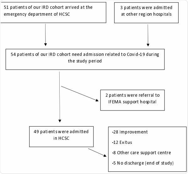 Flow chart for COVID-19 patient hospital admission