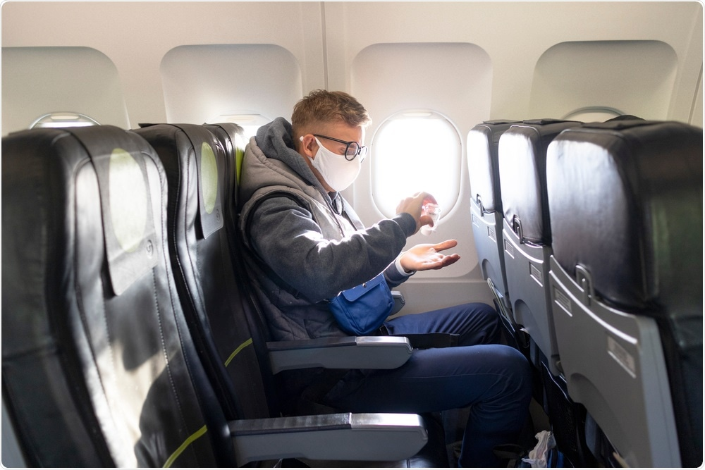 Seating on a plain during pandemic