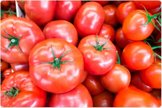 Tomatoes are a natural source of lycopene. Image Credit: Supapun Narknimitrung / Shutterstock.com