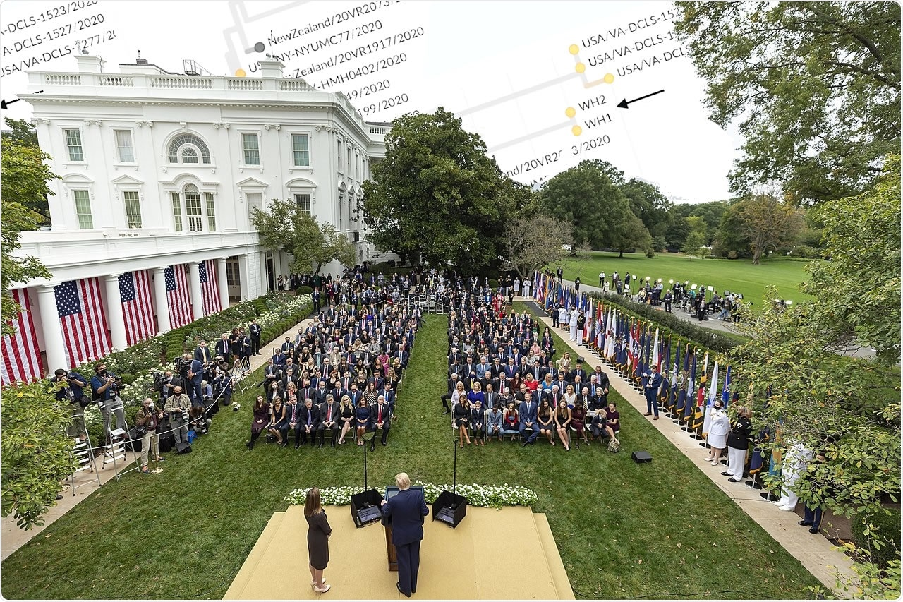 """Genomic sequence of the White House """"superspreader"""" event"""
