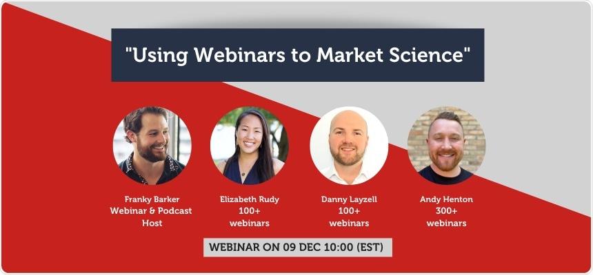 Uso de seminarios web para comercializar ciencia