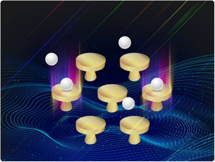 Scientists have reported a new optical imaging technology, using a glass side covered with gold nanodiscs that allows them to monitor changes in the transmission of light and determine the characteristics of nanoparticles as small as 25 nanometers in diameter.