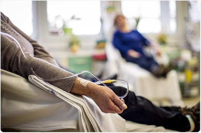 Cancer patients receiving chemotherapy treatment. Image Credit: Napocska / Shutterstock