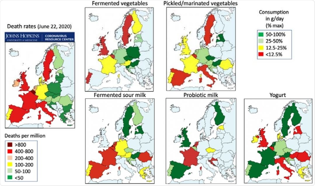 COVID-19 death rate and consumption of foods in European Union countries