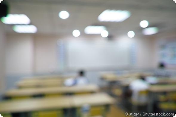 Blur classroom background