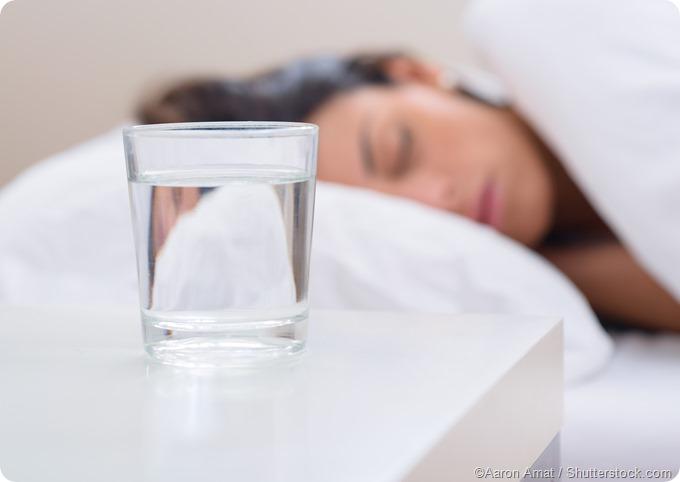 Drink of water bedtable