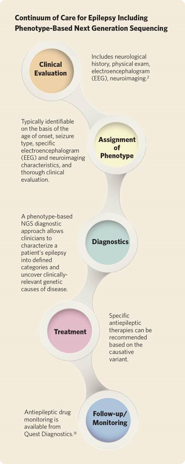 Epilepsy infographic from Quest Diagnostics