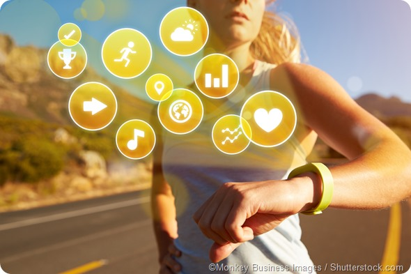 Fitness tracker icons