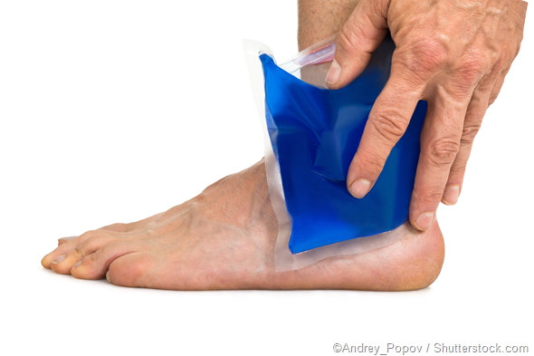 Foot ice pack pain