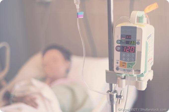 IV drip hospital patient