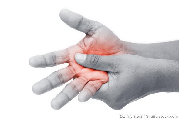 Man hand pain