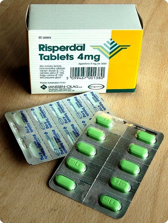 Risperidone (trade name Risperdal) is a common atypical antipsychotic medication