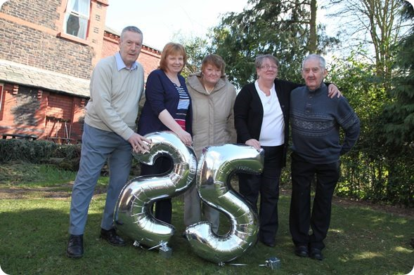 Staff and people supported at Inglenook one Community Integrated Cares first ever services celebrate the charitys 25th anniversary