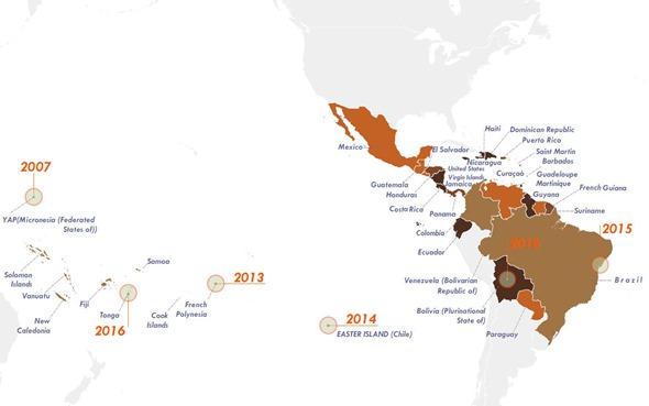 Zika Prevalence Timeline Map 2