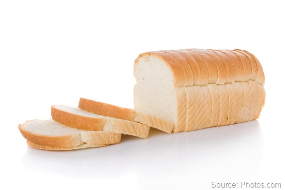 Sliced loaf of bread isolated on white background