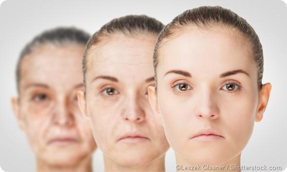 Women aging simulation