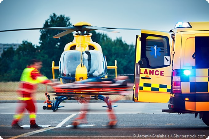 air and car ambulance patient